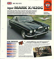 JAGUAR MARK X 10 / 420G SPEC SHEET/Brochure:1965,1966,1967,1968,1969,1970, 420 G