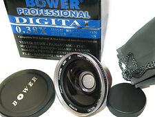 Bower Titanium FISHEYE Wide Angle 0.38X LENS 30mm For Sony Handycam DCR DVD106E