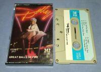DOLLY PARTON GREAT BALLS OF FIRE 747 LABEL cassette tape album