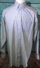 Brooks Brothers 16 1/2 -36  Long Sleeve Button Down Light Blue Yellow Striped