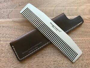Chicago Comb No. 3 + Mahogany Brown Horween leather sheath, Made in USA,save $15
