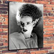 "Bride Of Frankenstein Classic Horror Printed Canvas A1.30""x20"" Deep 30mm Frame.2"