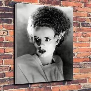 "Bride Of Frankenstein Classic Horror Printed Canvas A1.30""x20"" x30mm Halloween"