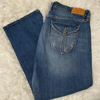 Lucky Brand Womens Size 14 / 32 Summer Sweet N Low Crop Blue Denim Jeans EUC