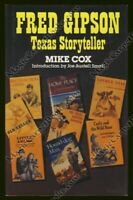 SIGNED Cox FRED GIPSON TEXAS STORYTELLER Journalist AUTHOR Texans OLD YELLER TX