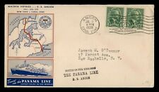 DR WHO 1939 CANAL ZONE MAIDEN VOYAGE SS ANCON SHIP TO USA  f48941