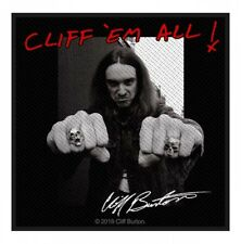 METALLICA - Patch Aufnäher - Cliff Burton Cliff´em all 10x10cm