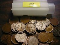 1923-P LINCOLN WHEAT CENT PENNY ROLL, all coins fine grade