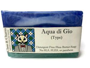 Men's Soap - Aqua Di Gio Type - Masculine Scents - Homemade Shea Butter Soap