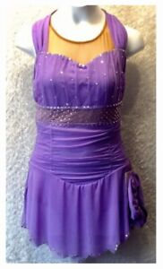 NEW Sharene Figure Skating Dress Lilac Mesh Ladies Extra Small
