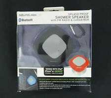 Soundlogic XT Bluetooth Shower Speaker FM Radio Carabiner Black Ipad Iphone