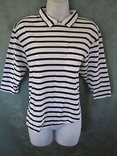VTG Chinese Laundry Size Small Knit Top Back Button & Fishtail Back Hem