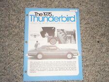 1975 FORD THUNDERBIRD DEALERSHIP SALESMANS ALBUM REFERENCE BROCHURE BOOK RARE