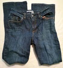 """Chico's Platiunum  Blue Denim Embellished Back Pockets Jeans Size 0 /30"""" Inseam"""