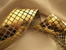 Metallic Disco Ribbon, Mirror Ribbon, Christmas Decorations, Cheer Bows, 3 YARDS