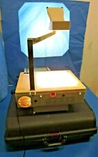 Elmo HP-280S Overhead Projector with Extra Lamps & Carrying Case Folding/ AS-IS