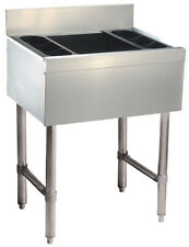 "Advance Tabco 12"" x 18"" Cocktail Unit 35lb Ice Capacity w/ (2) Bottle Rack"