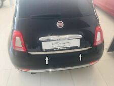 Fiat 500 500C 2009-2019 Chrome Rear Trunk Tailgate Lid Molding Trim S.Steel