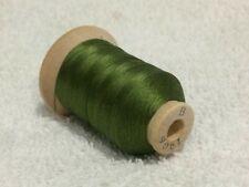 Size B Green Olive #9061 SILK THREAD~520 Yards Spool Utica/Gudebrod NOS Sewing