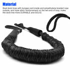 Marine Bungee Dock Line Boat Mooring Rope Anchor Cord Stretch Shock Black 2 Pack