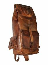 """20"""" Travel Bag Women's Bag Men New Model Genuine Leather Back Pack Rucksack"""