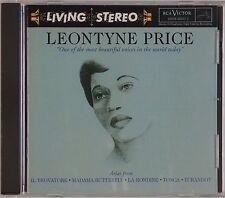 LEONYTINE PRICE: Arias Tosca, Turandot RCA LIVING STEREO USA orig NM CD