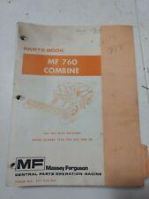 Massey Ferguson Mf 760 Combine Parts Book Catalog Dealer Book