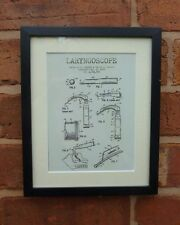 USA Patent LARYNGOSCOPE doctor anesthetist medical MOUNTED PRINT 1989 Gift