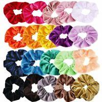 40Pcs Elastic Velvet Hair Scrunchies Hair Bands Scrunchy Rope Ties Cheap Sale DS