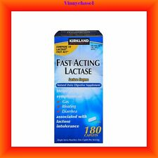 Kirkland Signature Fast Acting Lactase 180 Caplets-Gas, Bloating and Diarrhea