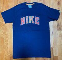 Nike Vintage Grey Tag Blue T Shirt Short Sleeve Tee Used Men's Size Medium