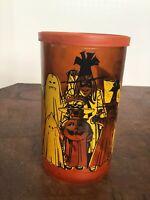 Vintage Halloween Danish jack-o'-lantern pumpkin votive candle holder