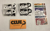 CLUE Game Cards & Case File Sleeve Parker Brothers Vintage Replacement ONLY