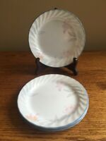 "SET OF 6 Corelle PINK TRIO 7-1/4"" Salad Dessert Plates"