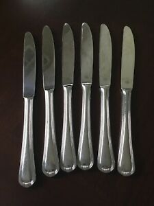 Pfaltzgraff Stainless 18/8 ADDISON Knives / 6 Pieces