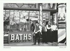 """*Utah Postcard-""""Barbershop"""" & Baths/ (Tourists Arriving Visit) *Ogden, UT (H6)"""