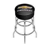 Padded Chrome Swivel Cushioned Bar Stool Durable Garage Shop Chair Seat