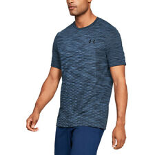 Under Armour UA HeatGear Mens T Shirt Vanish Seamless Blue Training Top L