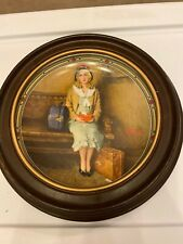 "Knowles Collector Plates Norman Rockwell ""A Young Girl's Dream� With Frame"