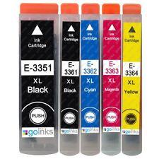 5 Ink Cartridges XL (Set) for Epson Expression Premium XP-540, XP-640, XP-830