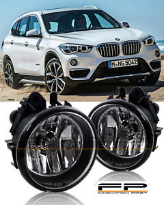 For 2016 2017 BMW X1 Clear Replacement Fog Light Housing Assembly Set Pair L/R