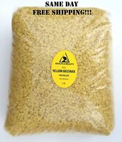 YELLOW BEESWAX BEES WAX ORGANIC PASTILLES BEADS PREMIUM 100% PURE 5 LB