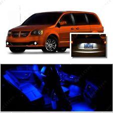 For Dodge Grand Caravan 2008-2015 Blue LED Interior Kit +White License Light LED