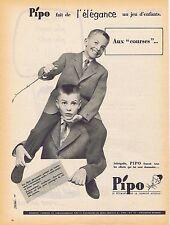 PUBLICITE ADVERTISING 114 1958 PIPO vêtements pour enfants