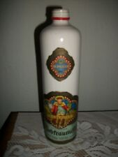 Beameister 1975 White Stoneware Wine Bottle w/Labels -Liebfraumitch -Germany