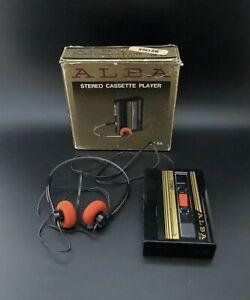 Scarce 1980s Vintage ALBA CP-6A 'Walkman' Personal Stereo Cassette Player & Box