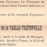 Frédéric Timoléon Louis Henri De La Taille-Trétinville 1910 Blanchamp Authon