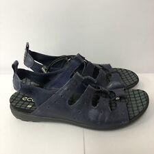 Ecco Sport Sandals Women Size 41 US 10 Blue Leather Upper