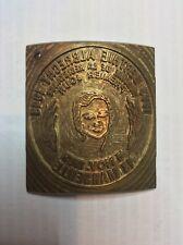 Cachet postal Matrice en bronze carte 1er jour Berthe ALBRECHT. Marseille.