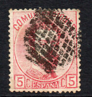Spain 5 Cent Stamp c1872 used (1258)